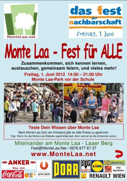 Monte Laa Nachbarschaftsfest 2012 - Flyer -Seite 1