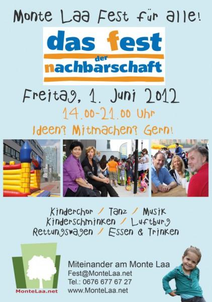 Monte Laa Nachbarschaftsfest 2012 - Poster A4