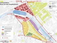 Detaillierter Plan der Rad-Expedition und aller Radverkehrsanlagen rund um den Hauptbahnhof