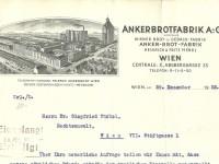 Briefkopf Ankerbrotfabrik 1932 (Foto: Archiv Bezirksmuseum Favoriten)